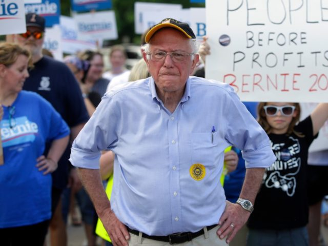 PELLA, IA - JULY 04: U.S. Senator and 2020 presidential candidate Bernie Sanders (I-VT) attends the 4th of July parade on July 4, 2019 in Pella, Iowa. The 2020 Iowa Democratic caucuses will take place on Monday, February 3, 2020. (Photo by Joshua Lott/Getty Images)