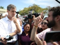 HOMESTEAD, FLORIDA - JUNE 27: Democratic presidential candidate, former Rep. Beto O'Rourke (D-TX) speaks to the media as he visits the outside of a detention center for migrant children on June 27, 2019 in Homestead, Florida. Democratic presidential candidates visited the detention center, which is the nation's largest center for …