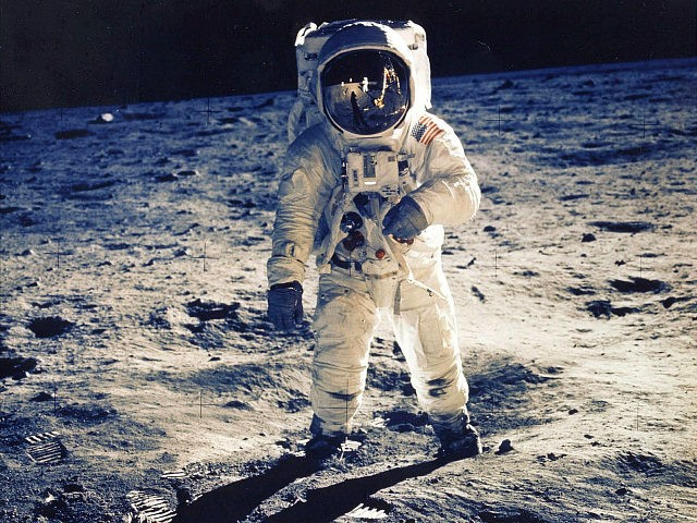 30Th Anniversary Of Apollo 11 Landing On The Moon (9 Of 20): Astronaut Edwin E. Aldrin Jr., Lunar Module Pilot, Is Photographed Walking Near The Lunar Module During The Apollo 11 Extravehicular Activity. Man's First Landing On The Moon Occurred Today At 4:17 P.M. July 20, 1969 As Lunar Module …