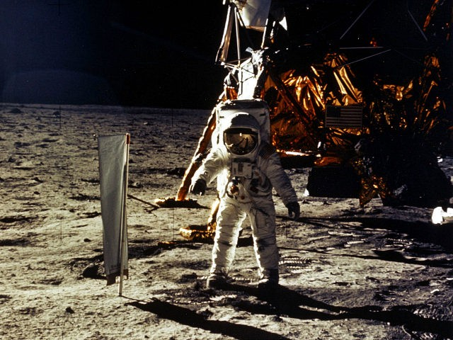 "376713 20: (FILE PHOTO) The deployment of scientific experiments by Astronaut Edwin Aldrin Jr. is photographed by Astronaut Neil Armstrong. Man's first landing on the Moon occurred July 20, 1969 as Lunar Module ""Eagle"" touched down gently on the Sea of Tranquility on the east side of the Moon. The …"