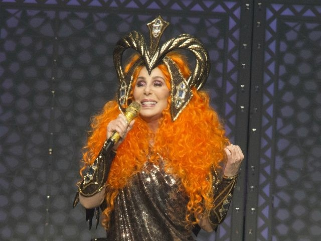 """Cher performs in concert during her """"Here We Go Again Tour"""" at The Wells Fargo Center on Saturday, April 20, 2019, in Philadelphia. (Photo by Owen Sweeney/Invision/AP)"""