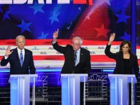 Democratic presidential hopefuls (L-R) Mayor of South Bend, Indiana Pete Buttigieg, Former US Vice President Joseph R. Biden, US Senator for Vermont Bernie Sanders, US Senator for California Kamala Harris and US Senator for New York Kirsten Gillibrand participate to the second Democratic primary debate of the 2020 presidential campaign …