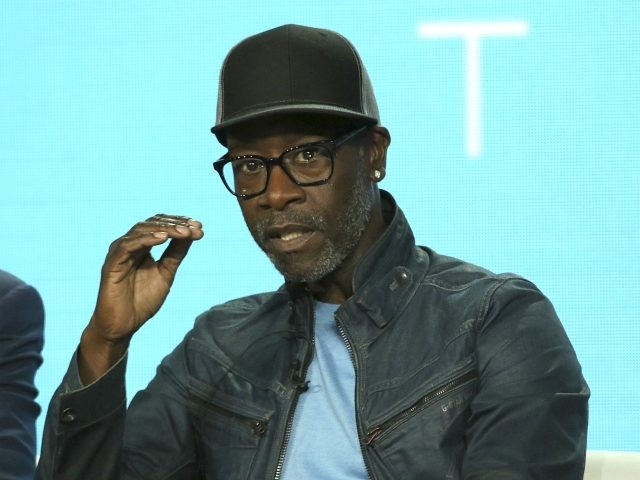 """Don Cheadle participates in the """"Black Monday"""" panel during the Showtime TCA Winter Press Tour on Thursday, Jan. 31, 2019, in Pasadena, Calif. (Photo by Willy Sanjuan/Invision/AP)"""