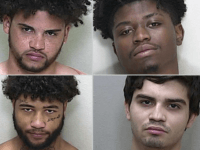 Two men, top row from left, Keith Jackson Jr. and Nigel Doyle, were killed during a home invasion in Summerfield Wednesday night. Two others, bottom row from left, Robert Hamilton and Seth Rodriquez, were arrested.