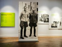 In this Friday, July 12, 2019 photo a picture of Claus Schenk Graf von Stauffenberg, left, and Albrecht Ritter Merz von Quirnheim is displayed a the exhibition at the German Resistance Memorial Center inside the Bendlerblock building of the defensive ministry in Berlin. Stauffenberg was one of the leaders of …