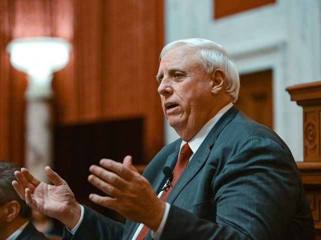 Gov. Jim Justice, R. W.Va., delivers his annual State of the State speech on Wednesday, Jan. 9, 2019, in Charleston, W.Va. (AP Photo/Tyler Evert)