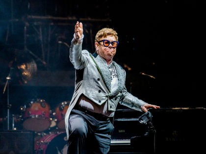 English singer-songwriter Elton John performs on stage during the 'Farewell Yellow Brick Road'-Tour in the Ziggo Dome in Amsterdam on June 8, 2019. (Photo by Ferdy Damman / ANP / AFP) / Netherlands OUT (Photo credit should read FERDY DAMMAN/AFP/Getty Images)