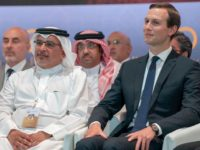 "In this Tuesday, June 25, 2019, photo released by Bahrain News Agency, from left to right, U.S. Treasury Secretary Steven Mnuchin, Bahrain Crown Prince Salman bin Hamad Al Khalifa and White House senior adviser Jared Kushner attend the opening session of the ""Peace to Prosperity"" workshop in Manama, Bahrain. Amid …"