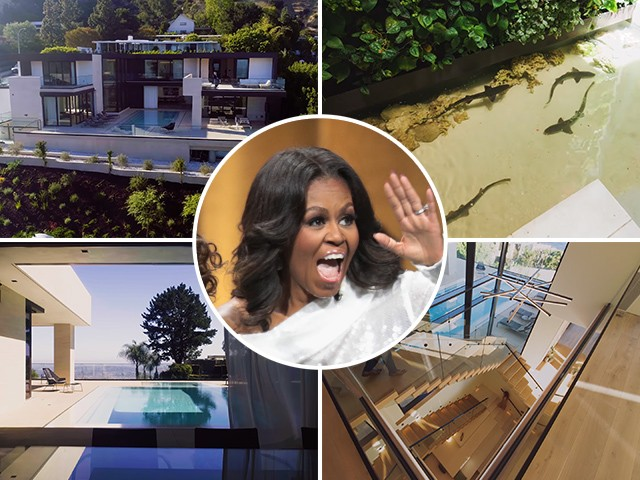 Report: Michelle Obama Rents $23M 'Shark House' Mansion for L.A. Visit