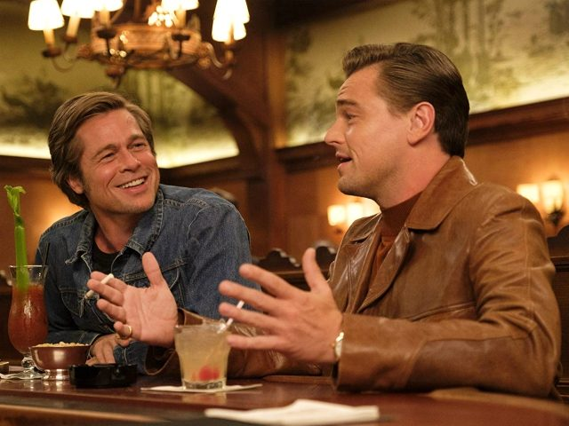 Brad Pitt and Leonardo DiCaprio in Once Upon a Time ... in Hollywood (Sony Pictures Entertainment, 2019)