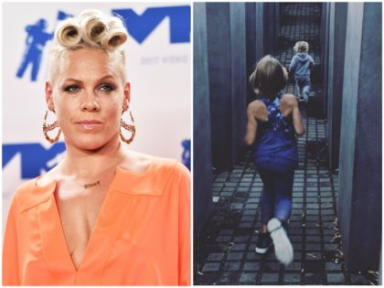 Pink Slams Critics of Her Children Running through Holocaust Memorial
