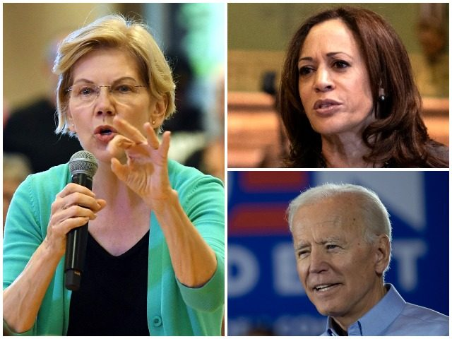 A new California poll of Democrat primary voters in the state has Sen. Elizabeth Warren (D-MA) surging past favorite daughter Sen. Kamala Harris (D-CA) and former Vice President Joe Biden in the Golden State ahead of the second debates upcoming at the end of July.