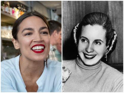 Eva Perón and AlexandriaOcasio-Cortez
