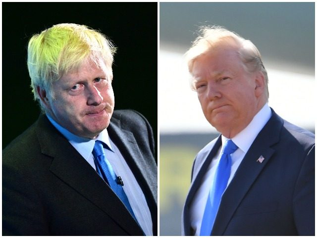 "Boris Johnson - Britain's prime minister in waiting - has described President Donald Trump's robust criticisms of the four Democrat congresswomen known as 'the Squad' as ""totally unacceptable."""