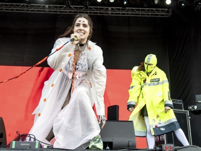 Nadezhda Tolokonnikova of Pussy Riot performs at the Sonic Temple Art and Music Festival at Mapfre Stadium on Friday, May 17, 2019, in Columbus, Ohio. (Photo by Amy Harris/Invision/AP)