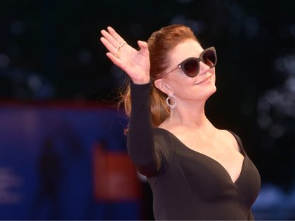 "Actress Susan Sarandon attends the premiere of the movie ""The Private Life of a modern Woman"" presented out of competition at the 74th Venice Film Festival on September 3, 2017 at Venice Lido. / AFP PHOTO / Filippo MONTEFORTE (Photo credit should read FILIPPO MONTEFORTE/AFP/Getty Images)"