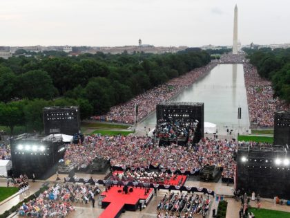 President Trump Notes 'Great Crowd' at Salute to America