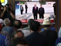 SEOUL, SOUTH KOREA - JUNE 30: South Koreans watch on a screen reporting on the North Korean leader Kim Jong Un meeting with U.S. President Donald Trump at the Seoul Railway Station on June 30, 2019 in Seoul, South Korea. U.S. President Donald Trump and North Korean leader Kim Jong-un …