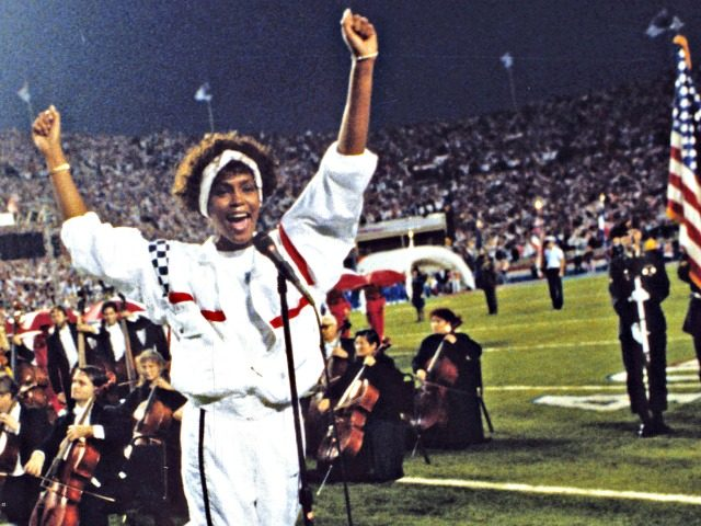 whitneyhouston sings National Anthem
