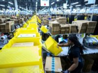 "Workers are planning to walk off the job next week at an Amazon warehouse in Minnesota, which is one of numerous ""fulfillment centers"" operated by the company such as this one pictured from Staten Island, New York"