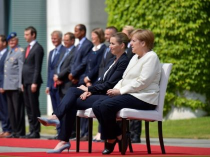 After Shaking Fits, Germany's Merkel Once Again Sits Through Ceremonial Anthems