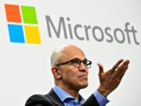 CEO Satya Nadella said profits rose as more companies are choosing Microsoft for cloud and technology services