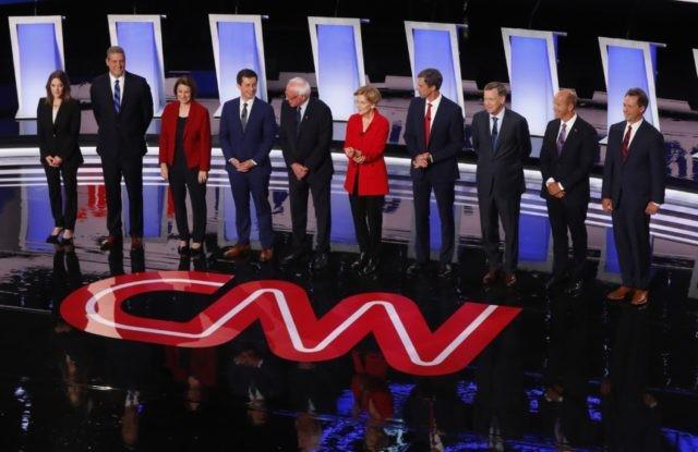 Moderate Democrats take aim at liberal candidates at debate