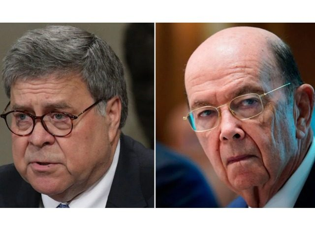 The House voted to hold Attorney General William Barr, left, and Commerce Secretary Wilbur Ross in contempt for defying congressional subpoenas related to the U.S. census. (Alex Wong/Getty Images; Mandel Ngan/AFP/Getty Images)