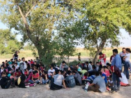Rio Grande Valley Sector Border Patrol agents apprehend a group of 146 Central American migrants near Los Ebanos, Texas. (Photo: U.S. Border Patrol/Rio Grande Valley Sector)