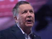 Governor John Kasich of Ohio speaking at the 2016 Conservative Political Action Conference (CPAC) in National Harbor, Maryland.