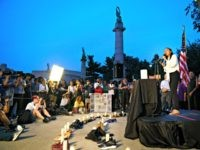 NEW YORK, NY - AUGUST 5: U.S. Rep. Alexandria Ocasio-Cortez (D-NY) speaks during a vigil for the victims of the recent mass shootings in El Paso, Texas and Dayton, Ohio, in Grand Army Plaza on August 5, 2019 in the Brooklyn borough of New York City. Lawmakers and local advocates …