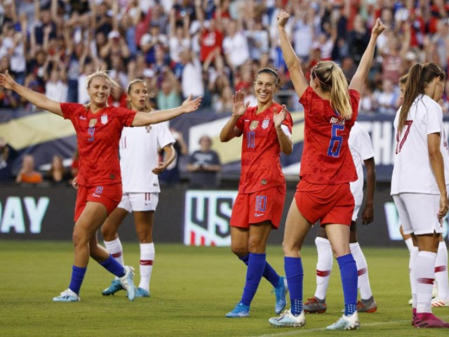 Lloyd, US women ease past Portugal in front of record crowd