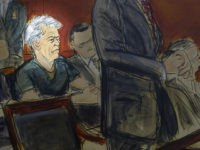 In this courtroom artist's sketch, defendant Jeffrey Epstein, center, listens as Assistant U.S. Attorney Alex Rossmiller, right, addresses the court during Epstein's arraignment, Monday, July 8, 2019 in New York. Epstein pleaded not guilty to federal sex trafficking charges. The 66-year-old is accused of creating and maintaining a network that …
