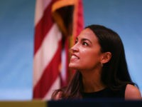 Rep. Alexandria Ocasio-Cortez holds an immigration Town Hall In Queens on July 20, 2019 in New York City. Ocasio-Cortez (D-NY) and the three other progressive freshmen in the House have become the focus of attacks from Donald Trump in recent days. (Photo by Spencer Platt/Getty Images)