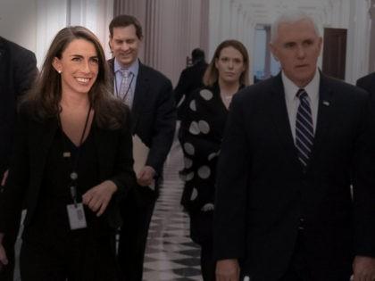 Vice President Pence and spokesperson Alyssa Farah