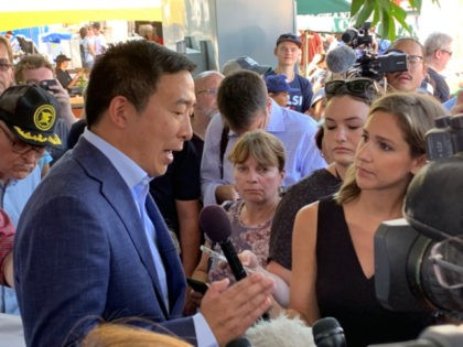 Democrat presidential candidate Andrew Yang told Breitbart News on Friday at the Iowa State Fair that only U.S. citizens would receive the $1,000 a month he pledges to give to Americans if elected.