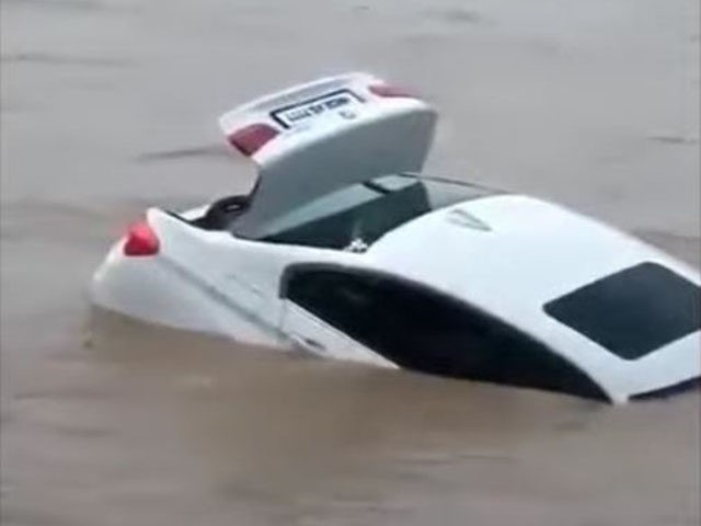 BMW submerged