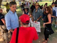"Democratic presidential candidate Beto O'Rourke, meets with residents of El Paso, Texas, after a community ""unity"" rally a few blocks from the University Medical Center of El Paso where victims of Saturday's shooting are being treated Wednesday, Aug. 7, 2019. Speaking to several hundred people, O'Rourke said immigrants had made …"