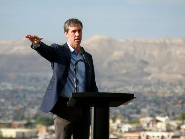 EL PASO, TX - AUGUST 15: Democratic presidential candidate, former Rep. Beto O'Rourke (D-TX) speaks to media and supporters during a campaign re-launch on August 15, 2019 in El Paso, Texas. O'Rourke paused his campaign in order to return to El Paso following the act of terror targeting the city's …