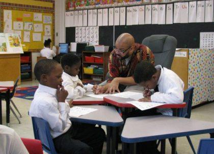 Black School Children, Teacher