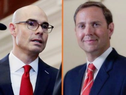 Dennis Bonnen and Dustin Burrows accused of offering press credentials in exchange for political expenditures. (Image: Breitbart News)
