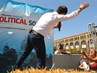 DES MOINES, IOWA - AUGUST 13: Democratic presidential candidate and South Bend, Indiana, Mayor Pete Buttigieg delivers a 20-minute campaign speech at the Des Moines Register Political Soapbox during the Iowa State Fair August 13, 2019 in Des Moines, Iowa. Twenty-two of the 23 politicians seeking the Democratic Party presidential …