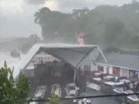 Clemson storm lifts tent
