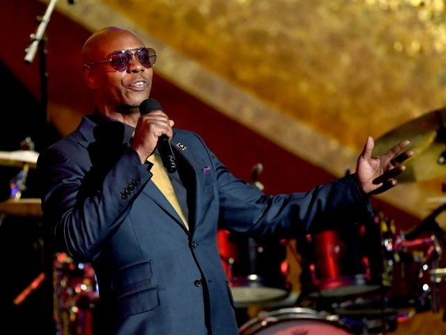 LOS ANGELES, CA - SEPTEMBER 25: Dave Chappelle speaks onstage at Q85: A Musical Celebration for Quincy Jones at the Microsoft Theatre on September 25, 2018 in Los Angeles, California. (Photo by Kevin Winter/Getty Images)