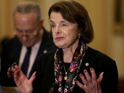 WASHINGTON, DC - APRIL 09: Sen. Dianne Feinstein (D-CA) speaks about gun control after the weekly Democratic policy luncheon at the U.S. Capitol April 9, 2019 in Washington, DC. (Photo by Mark Wilson/Getty Images)