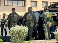 Law enforcement from different agencies work the scene of a shooting at a shopping mall in El Paso, Texas, on Saturday, Aug. 3, 2019. Multiple people were killed and one person was in custody after a shooter went on a rampage at a shopping mall, police in the Texas border …