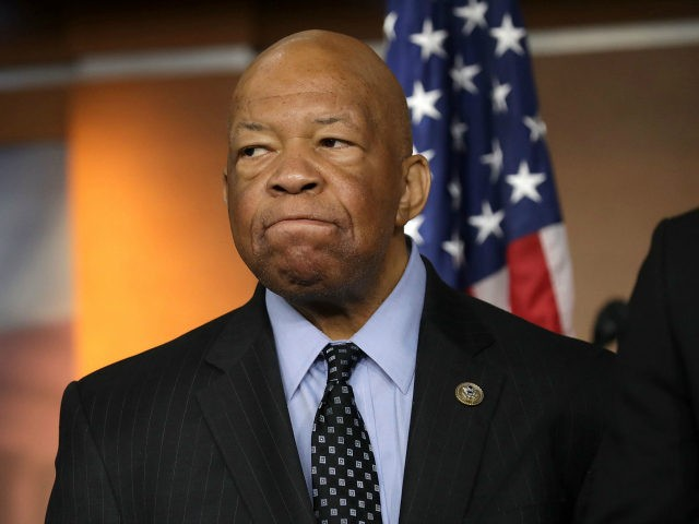 House Oversight and Government Reform Committee ranking member Rep. Elijah Cummings (D-MD) speaks during a news conference at the U.S. Capitol May 17, 2017 in Washington, DC. House Democrats have introduced legislation to create an outside, independent commission to investigate possible connections between President Donald Trump and Russian officials. If …