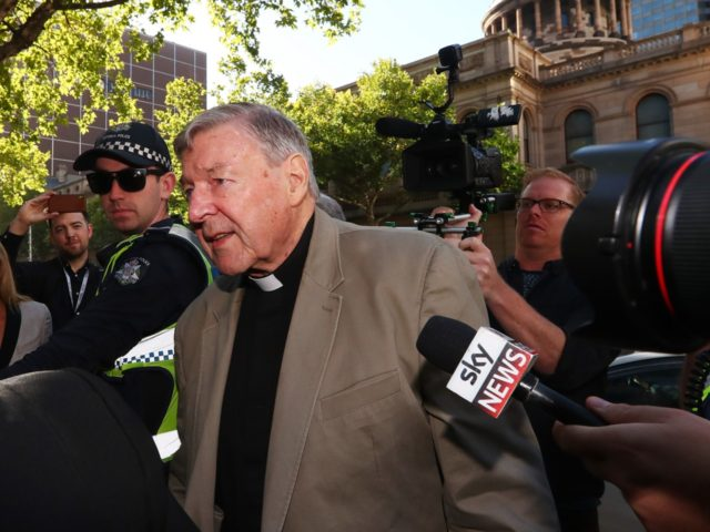 MELBOURNE, AUSTRALIA - FEBRUARY 27: Cardinal George Pell arrives at Melbourne County Court on February 27, 2019 in Melbourne, Australia. Pell, once the third most powerful man in the Vatican and Australia's most senior Catholic, was found guilty on 11 December in Melbourne's county court, but the result was subject …