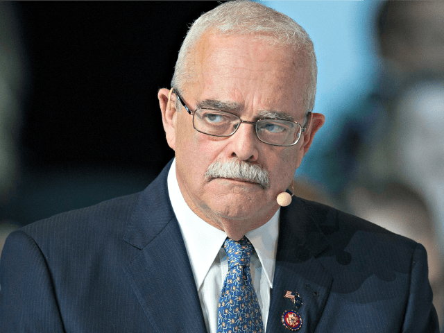 "Rep. Gerry Connolly, D-Va., addresses the Atlantic Council's ""NATO Engages The Alliance at 70"" conference, in Washington, Wednesday, April 3, 2019. (AP Photo/Cliff Owen)"