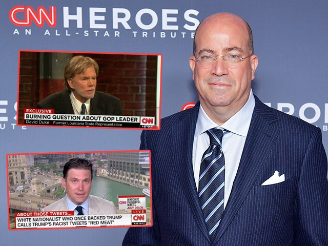 (INSETS: David Duke and Richard Spencer appearing on CNN) NEW YORK, NY - DECEMBER 09: President of CNN Jeff Zucker attends the 12th Annual CNN Heroes: An All-Star Tribute at American Museum of Natural History on December 9, 2018 in New York City. (Photo by Michael Loccisano/Getty Images for CNN …